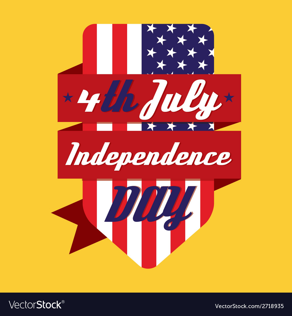 4th july american independence day design vector | Price: 1 Credit (USD $1)