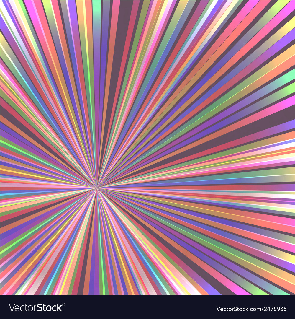 Abstract colorful rays vector | Price: 1 Credit (USD $1)