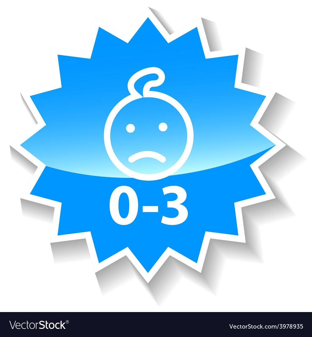 Baby ban blue icon vector | Price: 1 Credit (USD $1)
