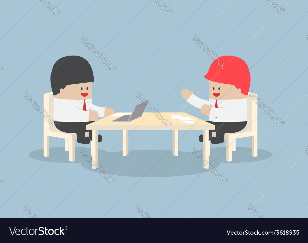 Businessmen brainstorming together at conference vector | Price: 1 Credit (USD $1)
