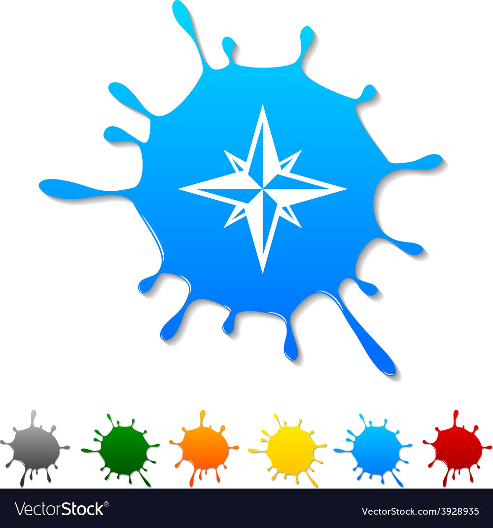 Compass blot vector | Price: 1 Credit (USD $1)