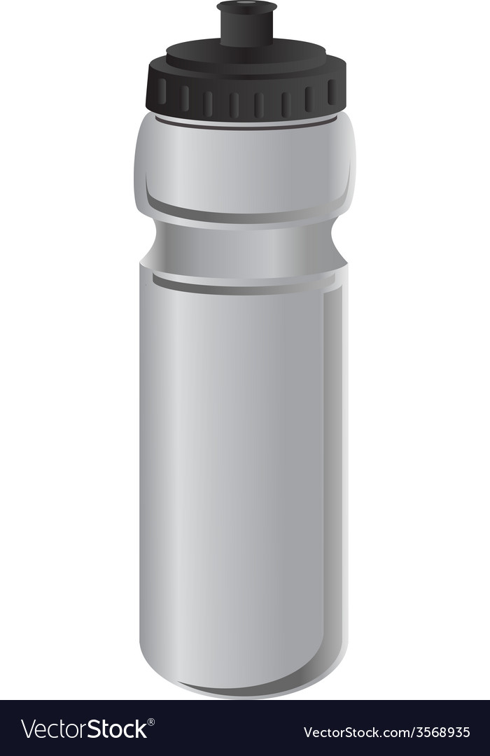 Grey sports water bottle vector | Price: 1 Credit (USD $1)