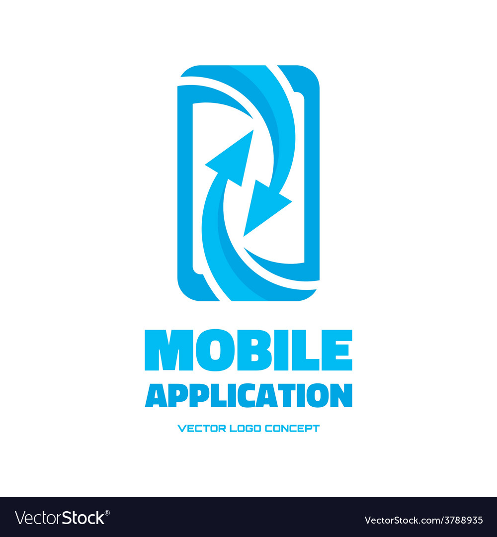 Mobile phone - logo concept vector | Price: 1 Credit (USD $1)
