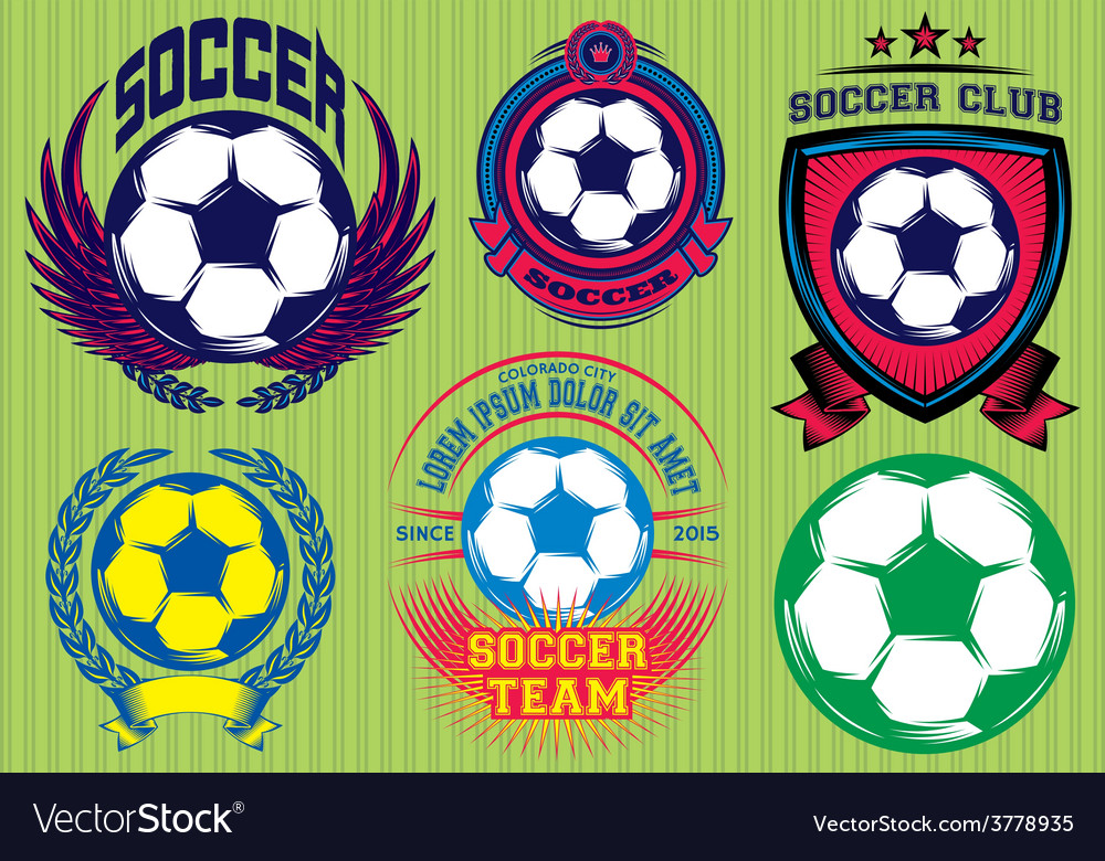 Set of soccer football badge logo design templates vector | Price: 1 Credit (USD $1)