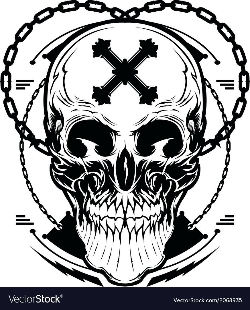 Skull graphic vector | Price: 1 Credit (USD $1)