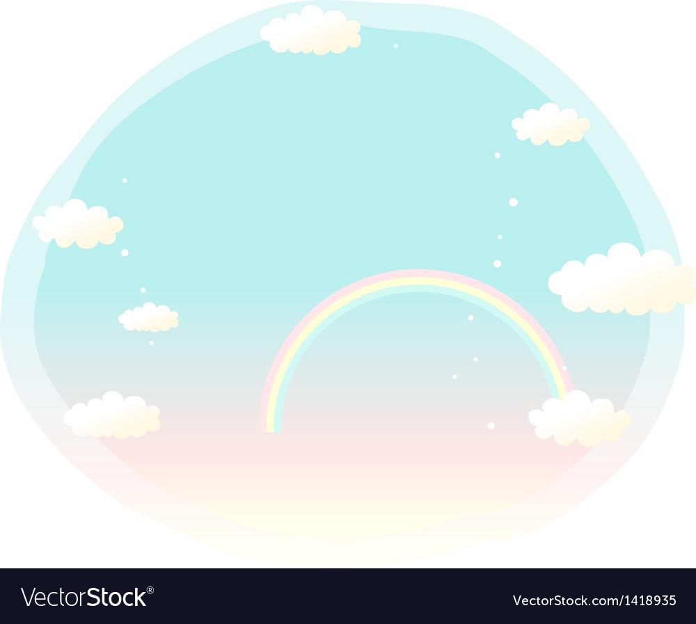 Sky rainbow cartoon vector | Price: 1 Credit (USD $1)