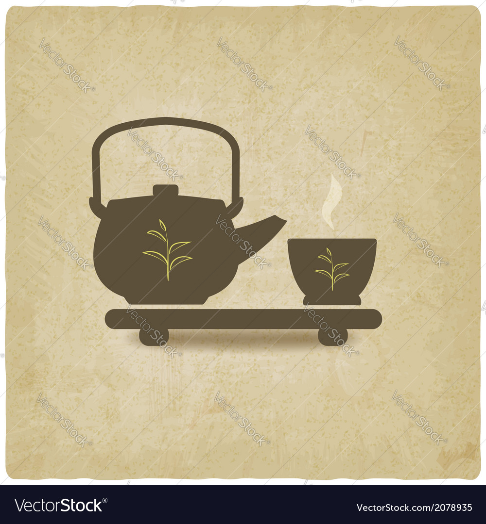 Tea ceremony old background vector | Price: 1 Credit (USD $1)