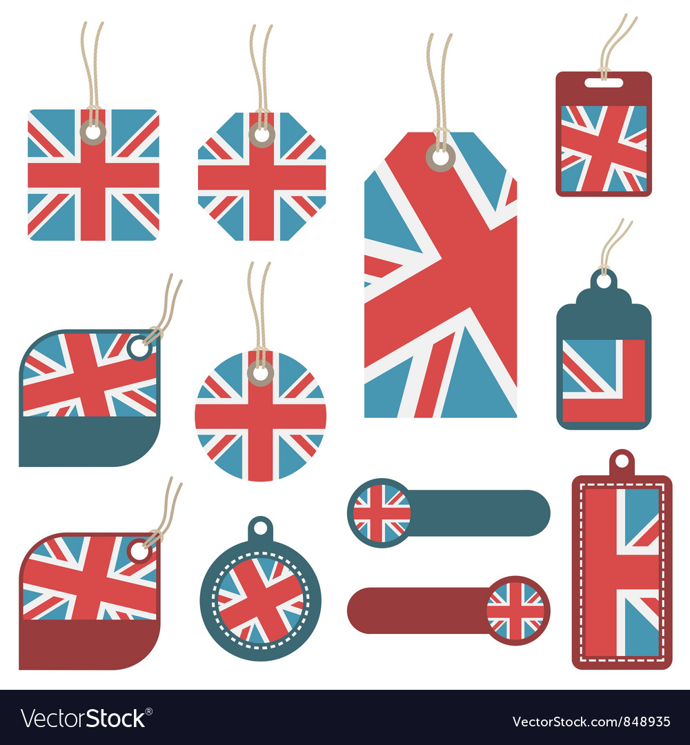 Uk tags vector | Price: 1 Credit (USD $1)