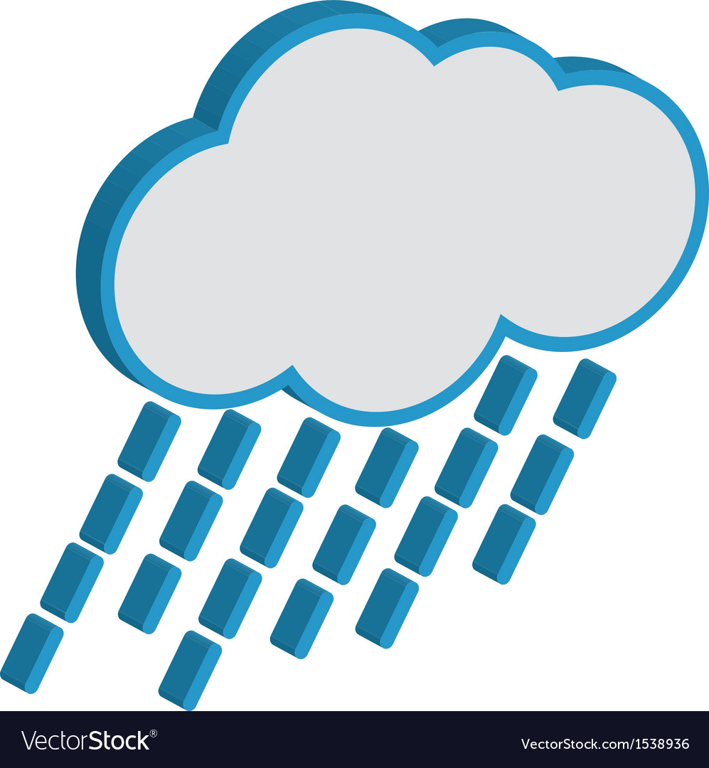 Cloud with raindrops weather forecast icon eps10 vector | Price: 1 Credit (USD $1)
