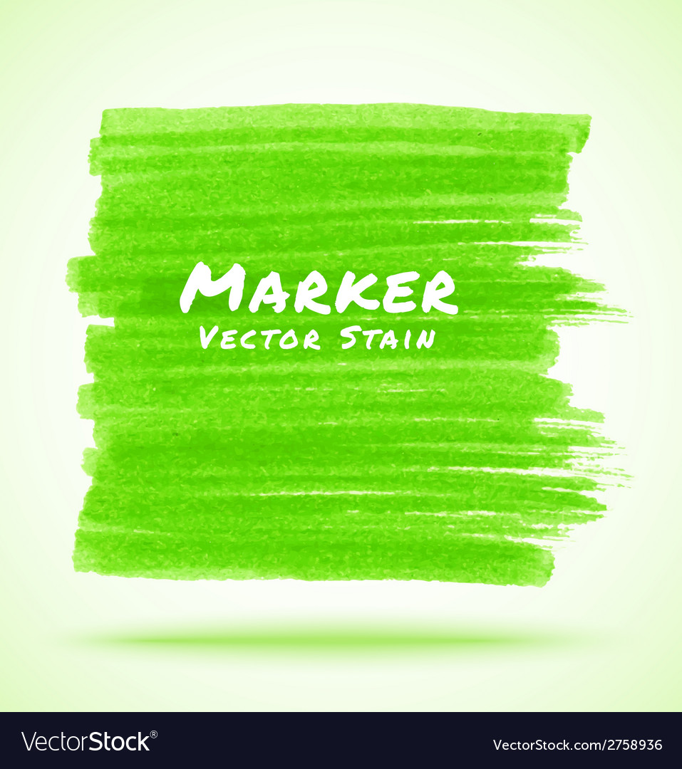 Green marker stain vector | Price: 1 Credit (USD $1)