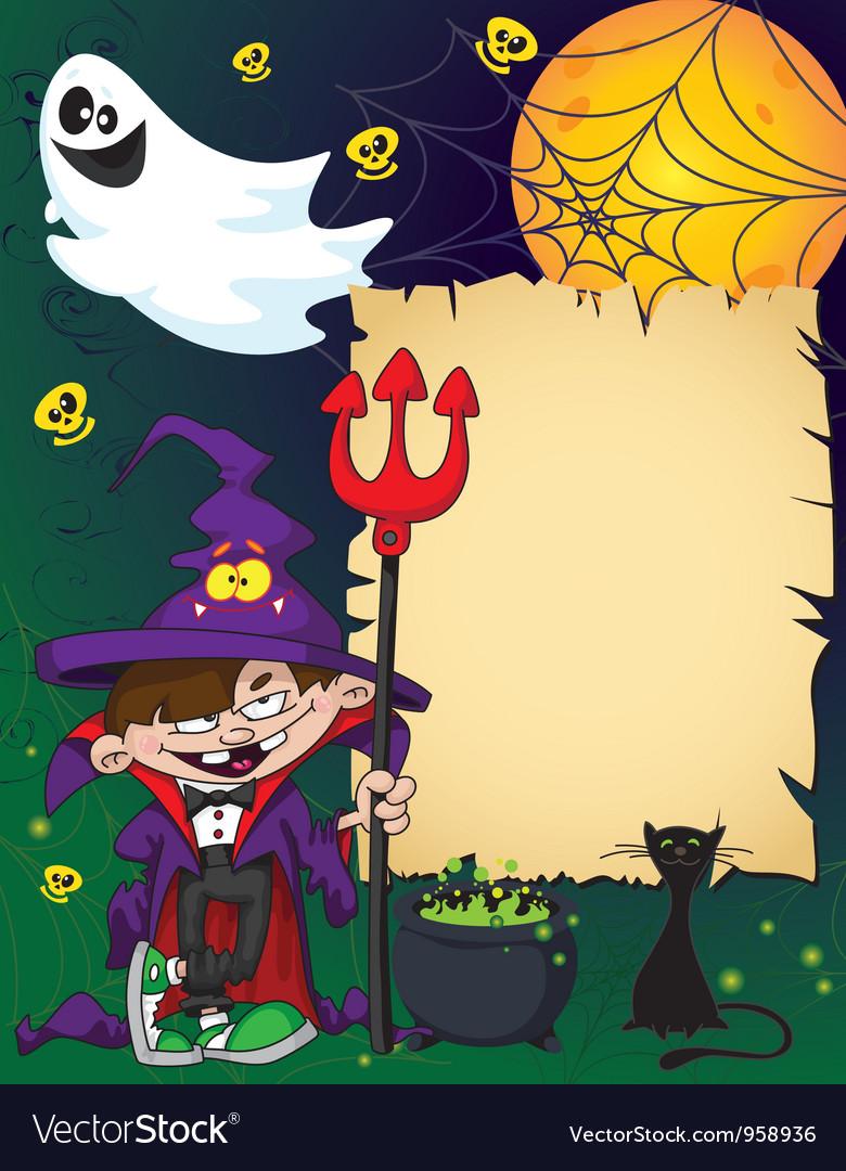 Halloween wizard boy vector | Price: 3 Credit (USD $3)