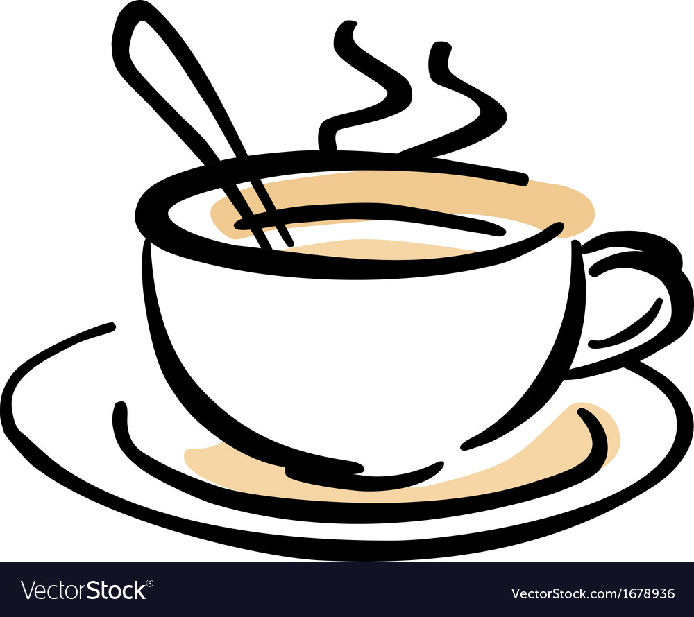 Hot cup of coffee vector | Price: 1 Credit (USD $1)