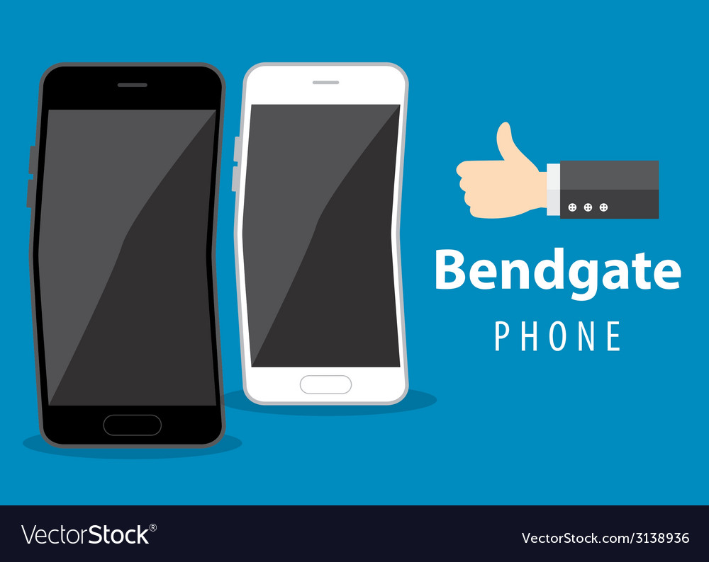 Mobile phone bend vector | Price: 1 Credit (USD $1)