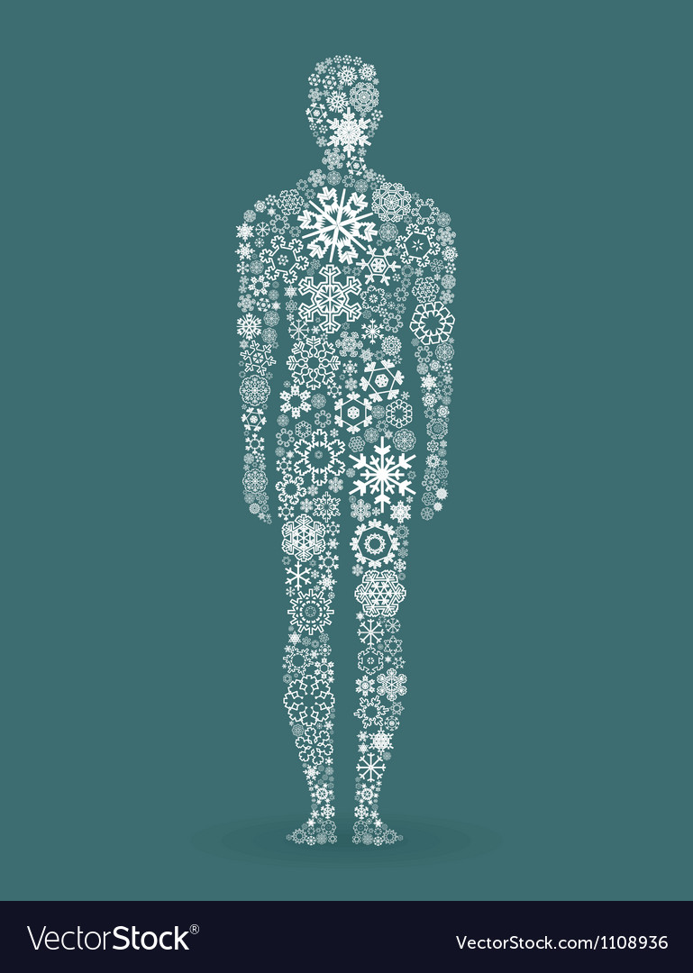 Person a snowflake vector | Price: 1 Credit (USD $1)
