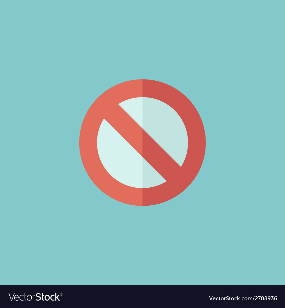Stop flat icon vector | Price: 1 Credit (USD $1)