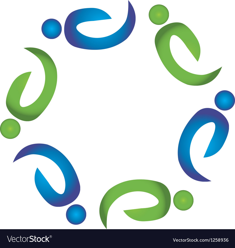 Teamwork harmony people logo vector | Price: 1 Credit (USD $1)