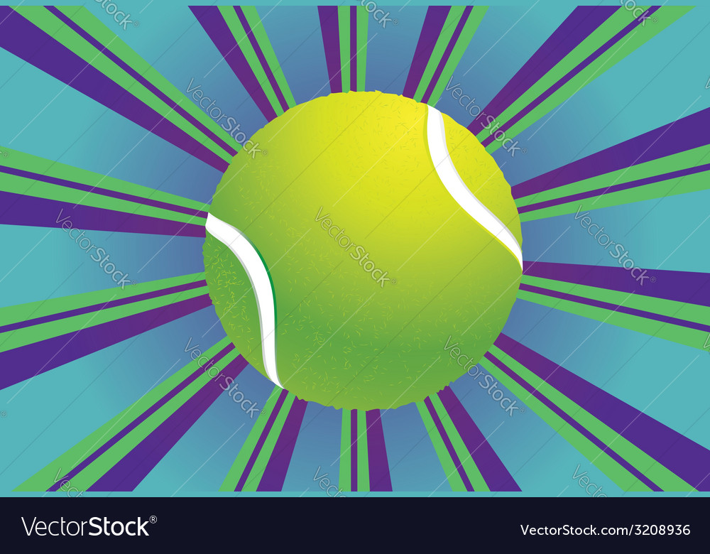 Tennis ball background vector | Price: 1 Credit (USD $1)