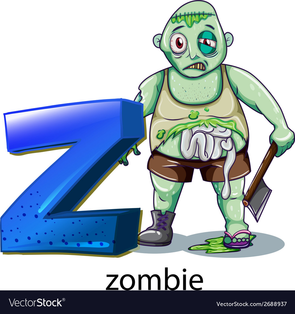 A letter z for zombie vector | Price: 3 Credit (USD $3)