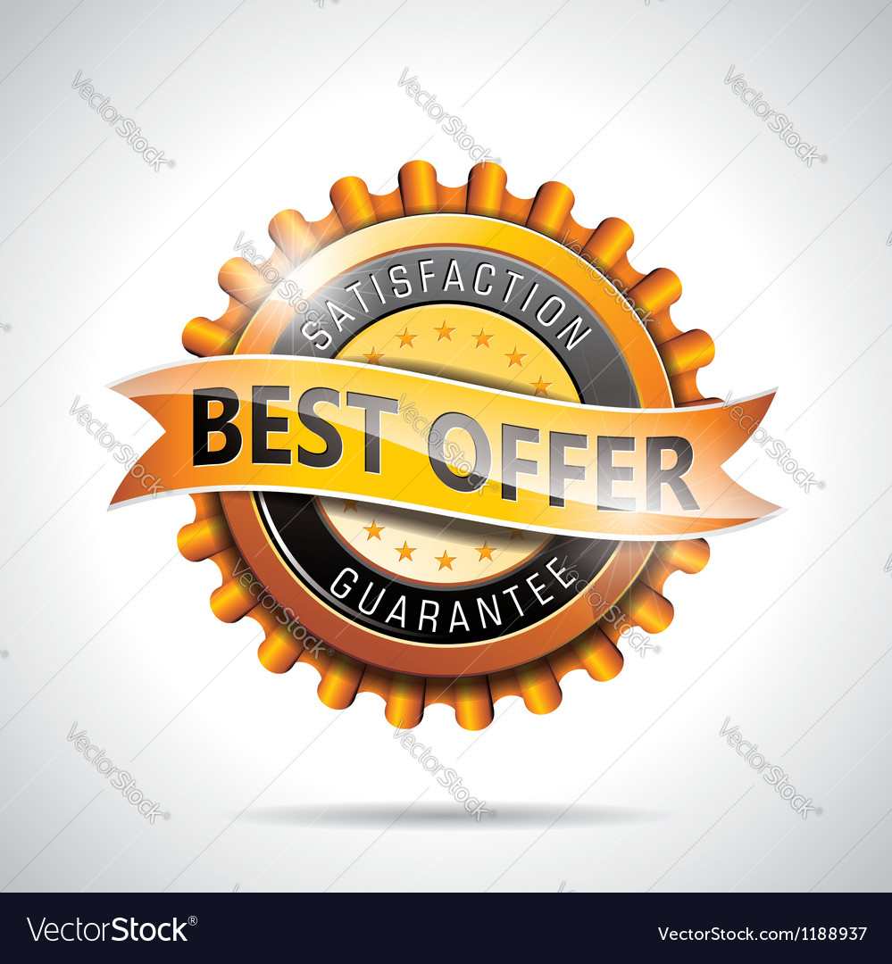Best offer labels with shiny styled design vector | Price: 3 Credit (USD $3)