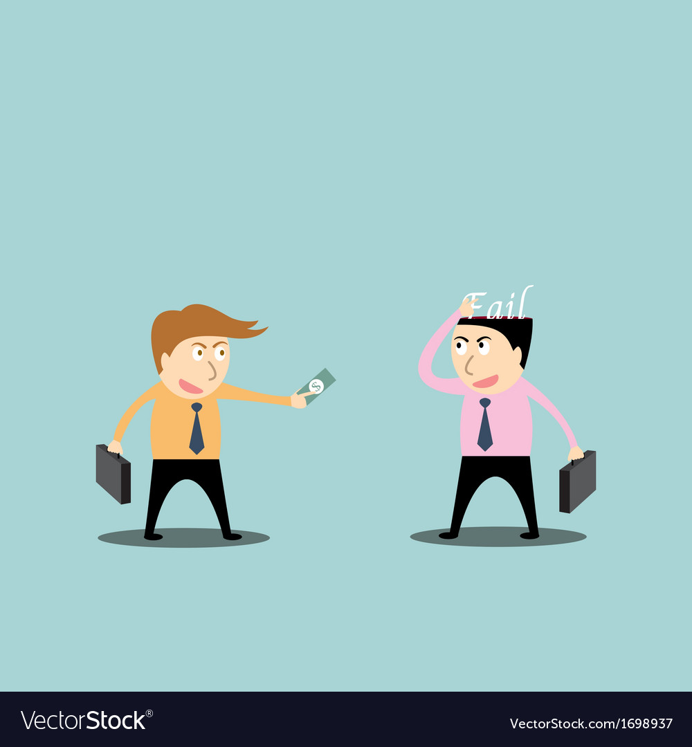 Businessman trading fail vector | Price: 1 Credit (USD $1)