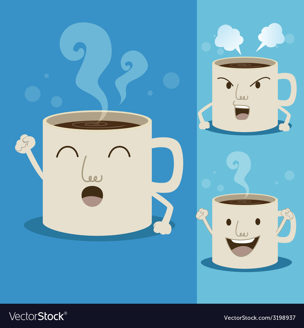 Coffeecupman vector | Price: 1 Credit (USD $1)
