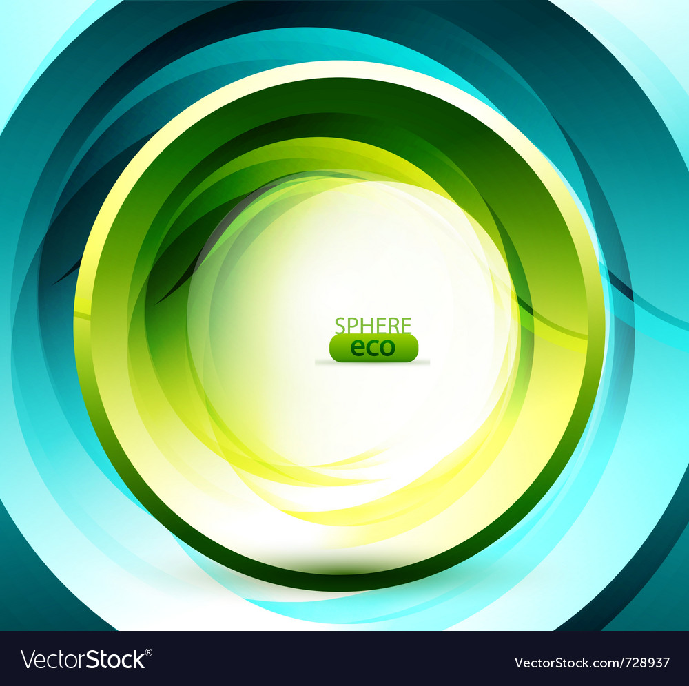 Eco-friendly sphere background vector | Price: 1 Credit (USD $1)