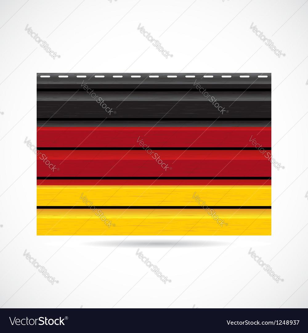 Germany siding produce company icon vector | Price: 1 Credit (USD $1)