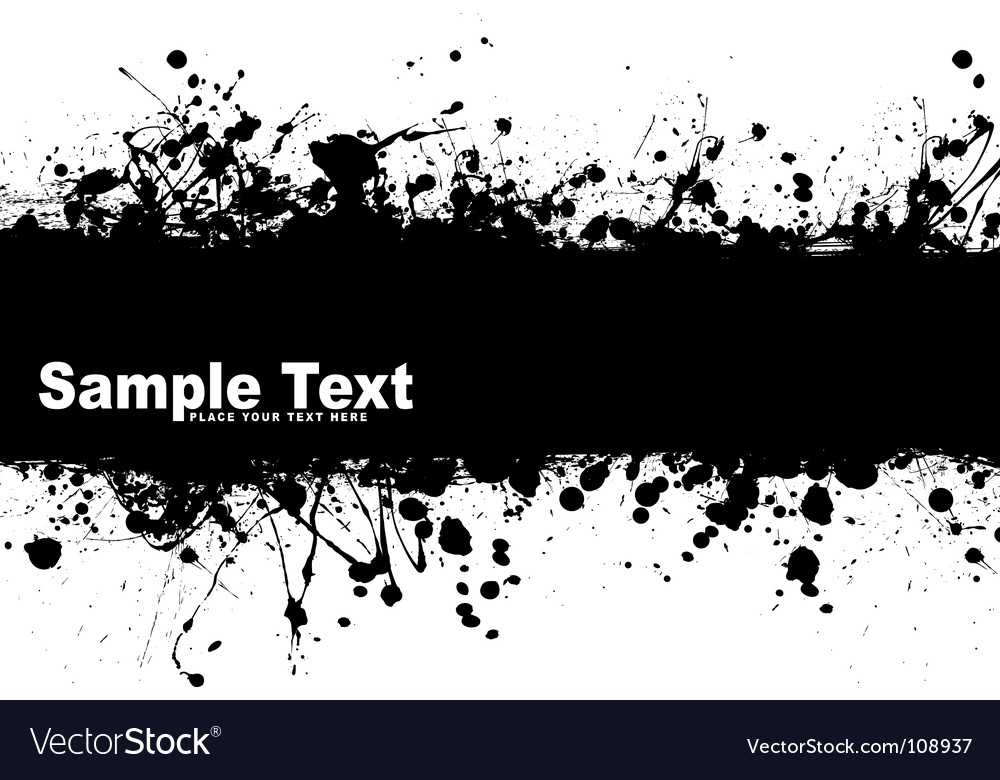 Grunge banner ink vector | Price: 1 Credit (USD $1)