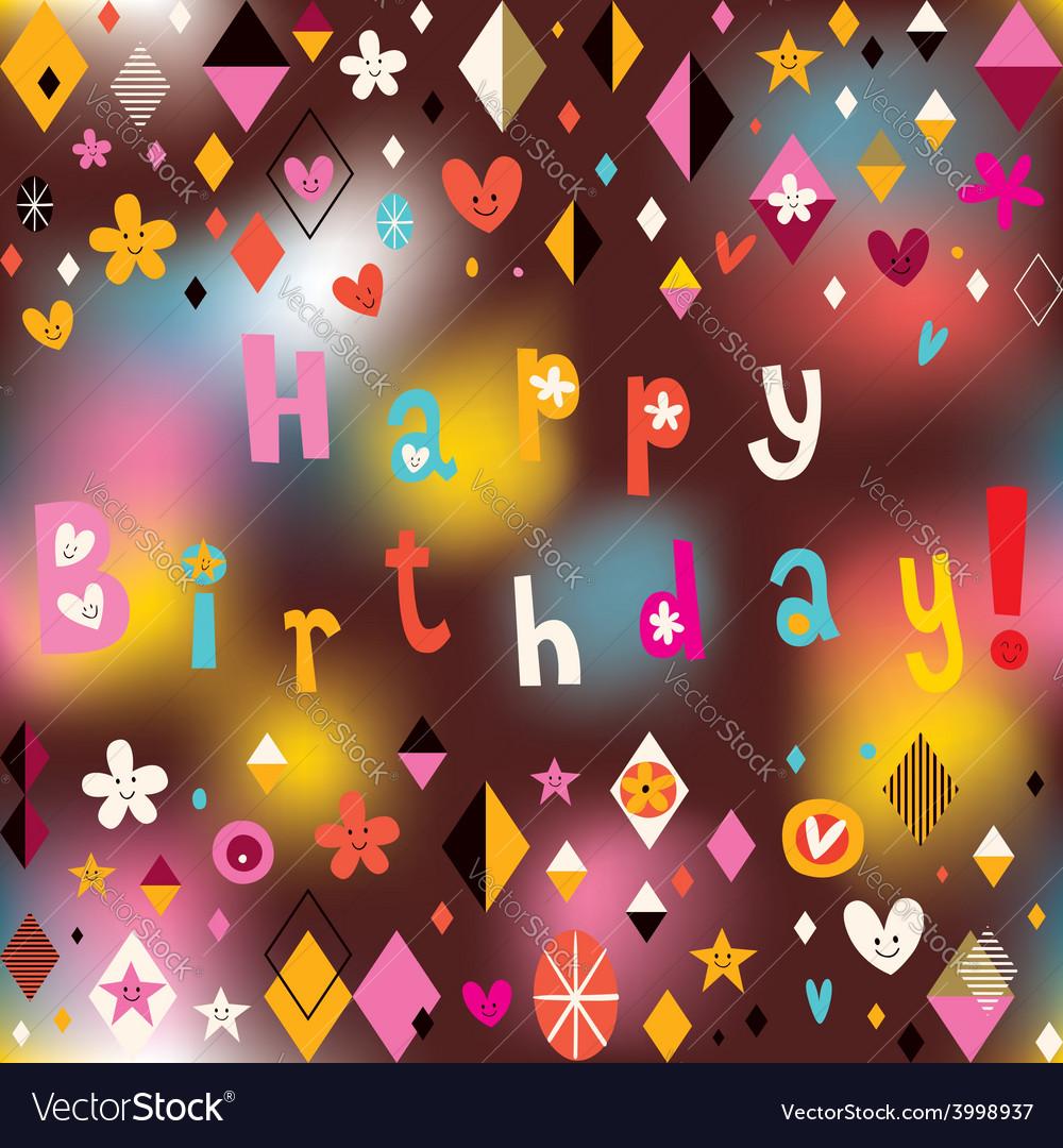 Happy birthday card 14 vector | Price: 1 Credit (USD $1)
