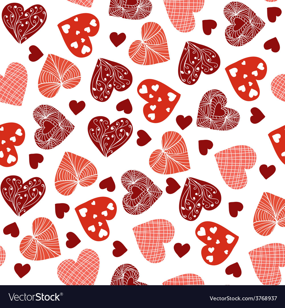 Hearts cheerful pattern with hearts vector | Price: 1 Credit (USD $1)