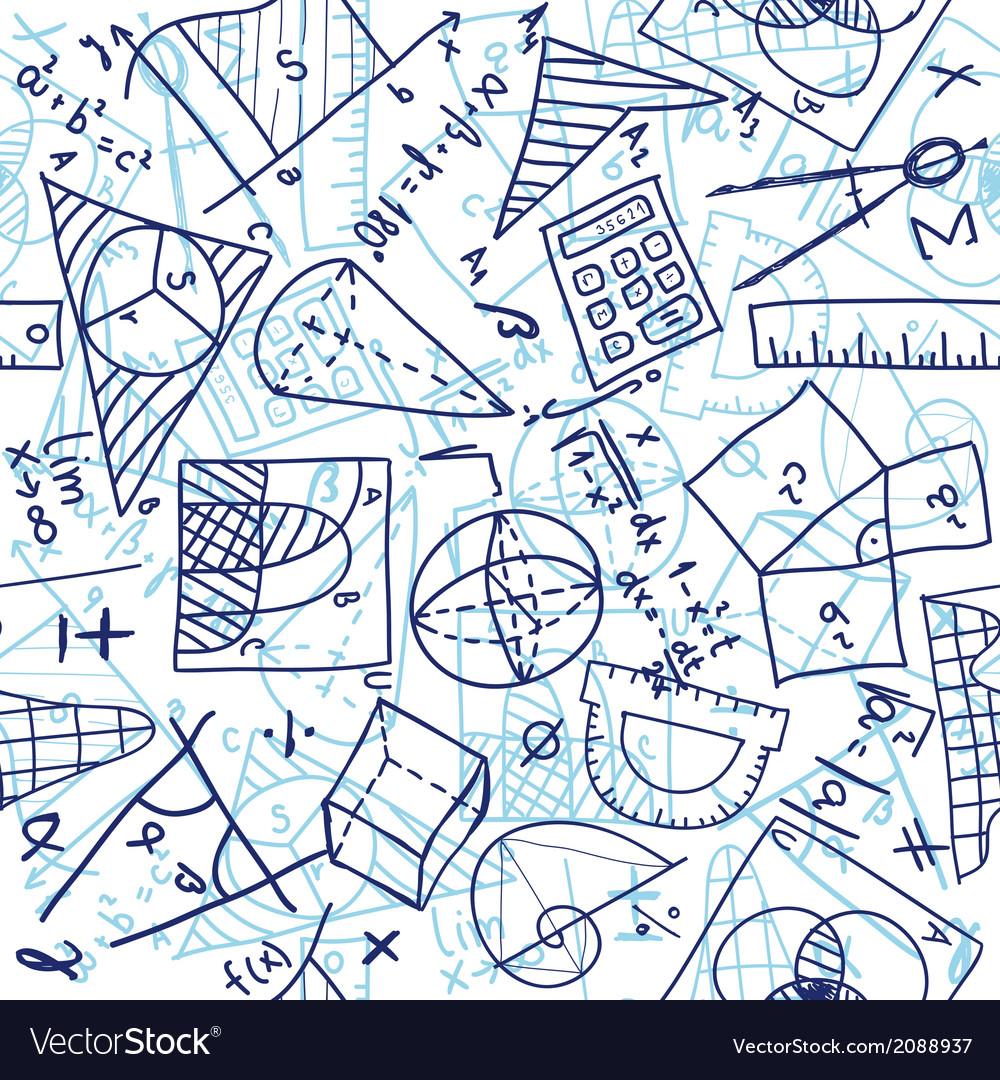 Mathematics seamless pattern vector | Price: 1 Credit (USD $1)