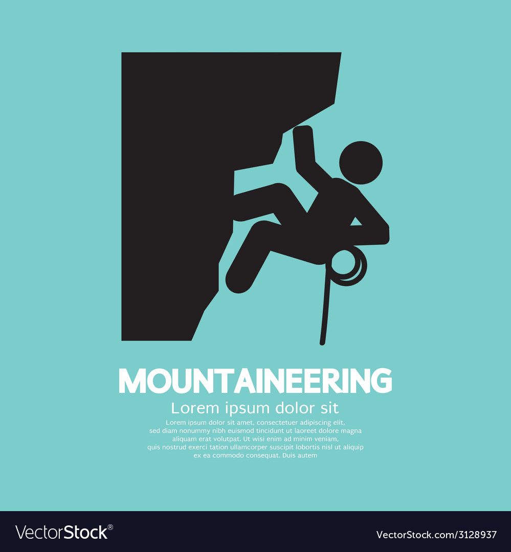 Mountaineering graphic symbol vector | Price: 1 Credit (USD $1)