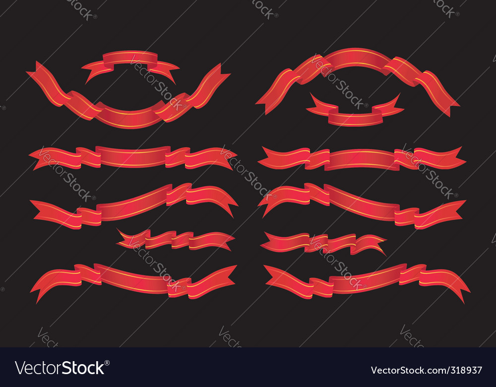 Ribbon scroll vector | Price: 1 Credit (USD $1)