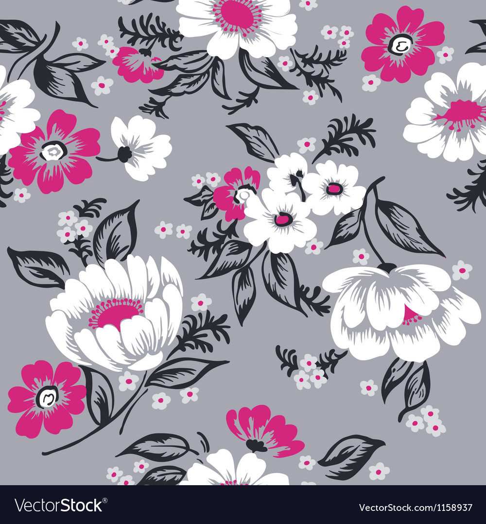 Seamless floral background beautiful set vector | Price: 1 Credit (USD $1)