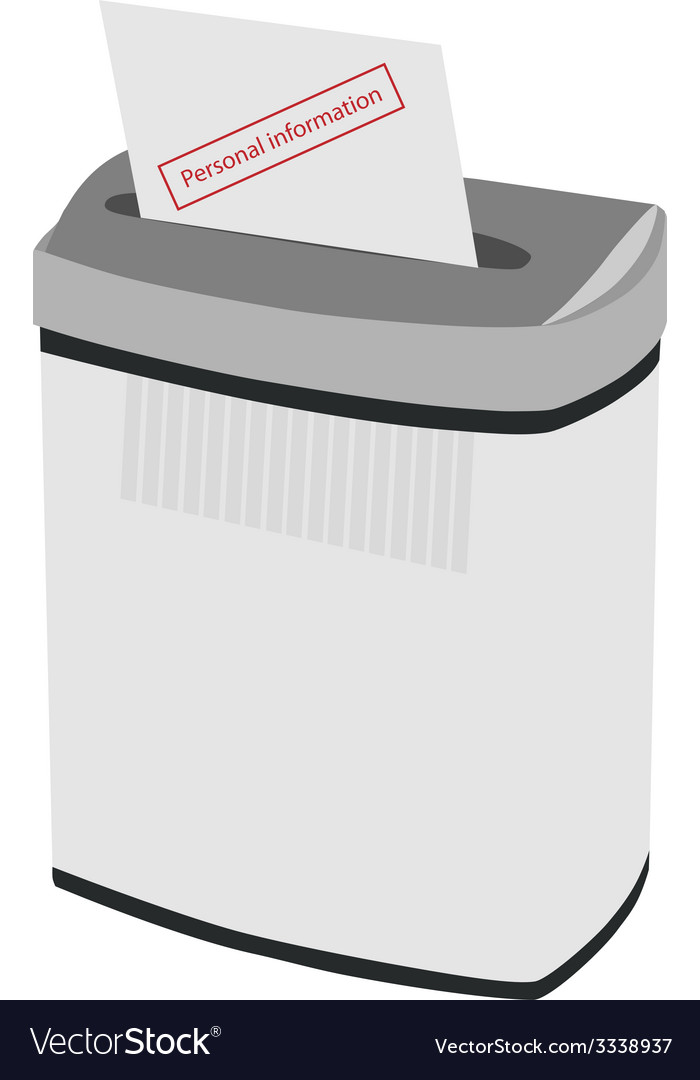Shredder and text personal information vector | Price: 1 Credit (USD $1)