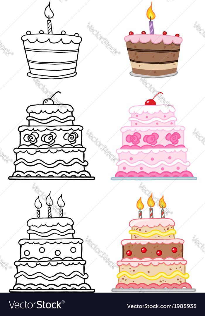 Cartoon birthday cake vector
