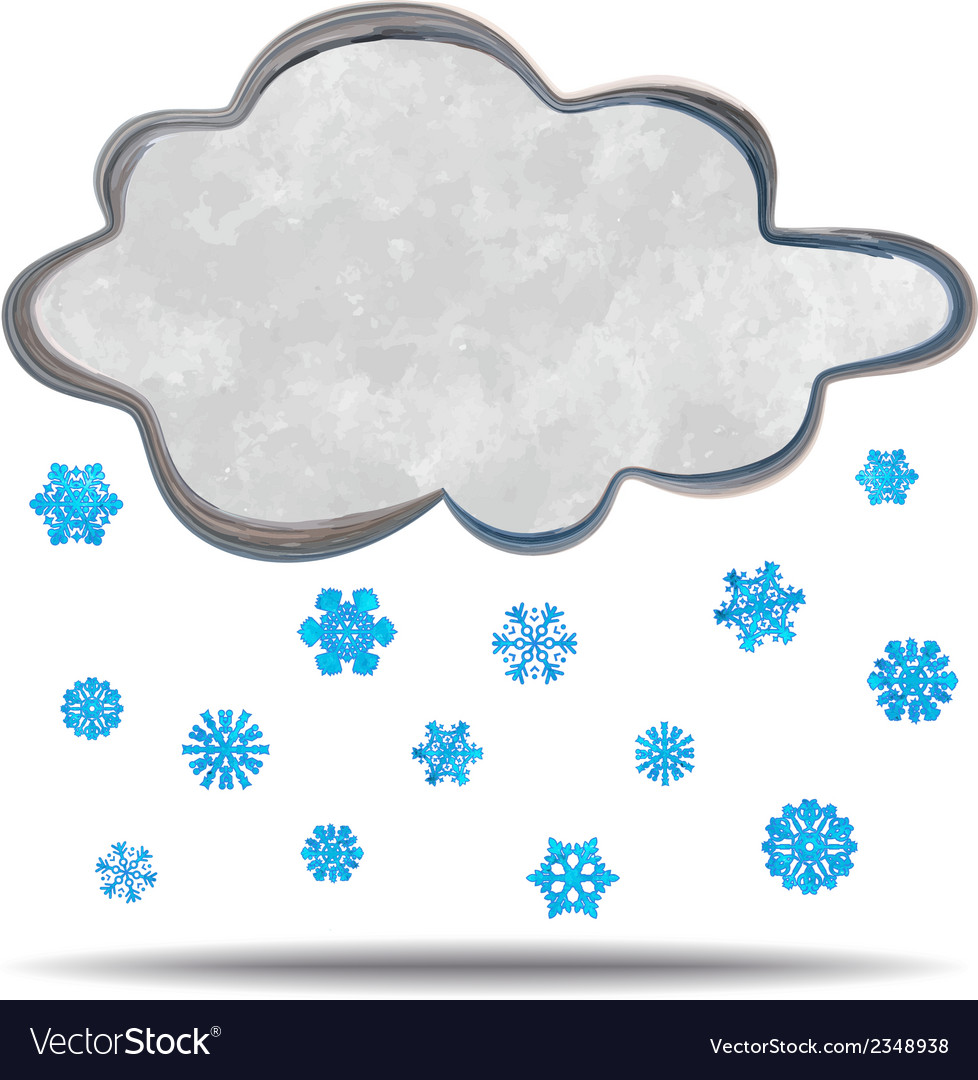 Climate cloud snowing vector | Price: 1 Credit (USD $1)