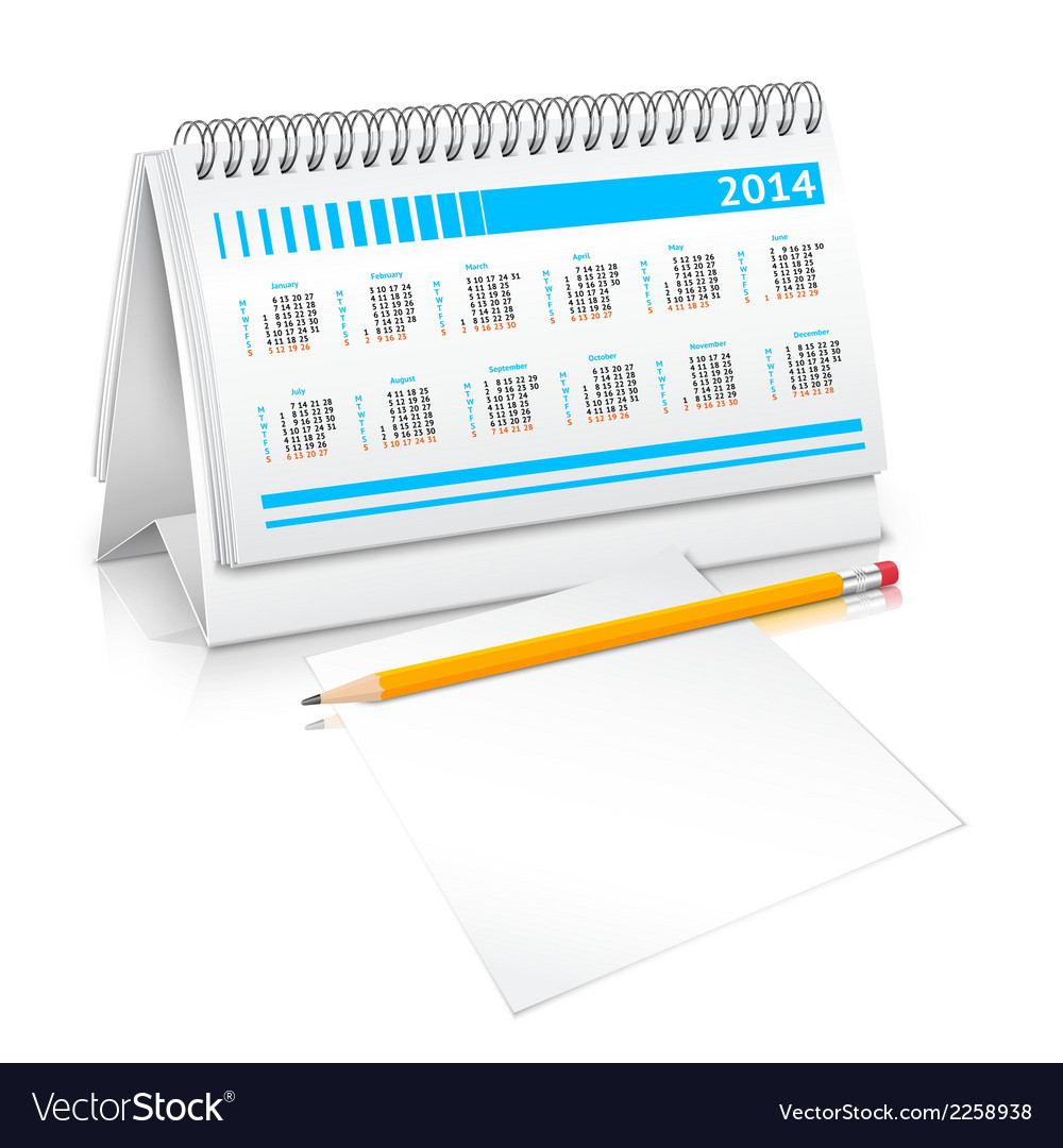 Desk calendar mockup vector | Price: 1 Credit (USD $1)