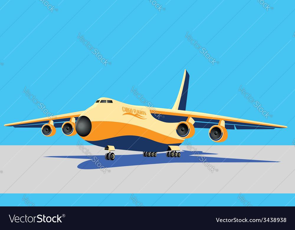 Large cargo plane vector | Price: 1 Credit (USD $1)