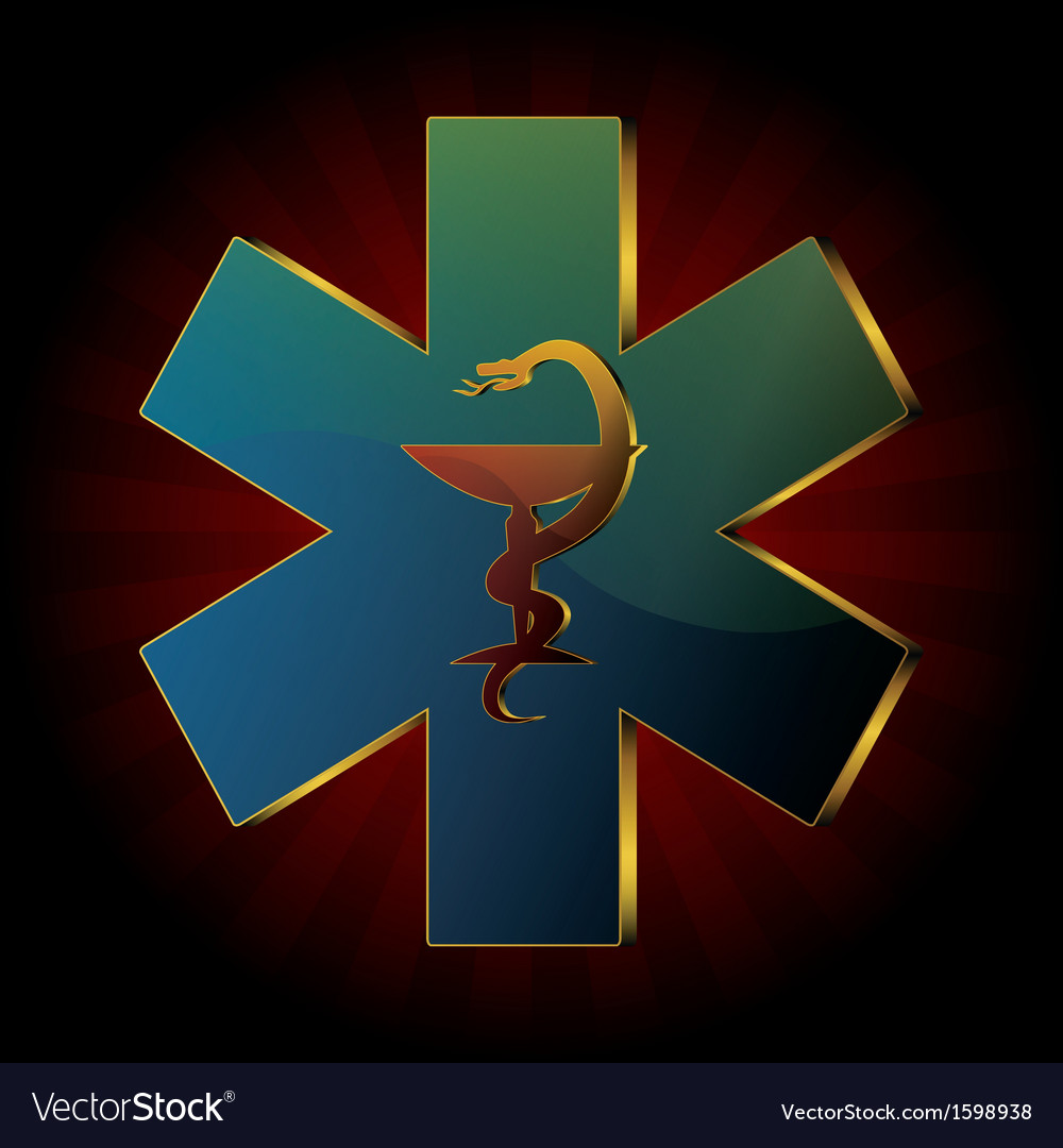 Medical snake background vector | Price: 1 Credit (USD $1)