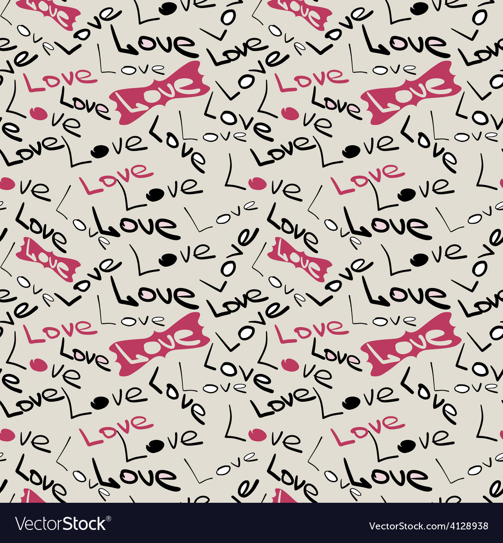 Seamless love pattern vector | Price: 1 Credit (USD $1)