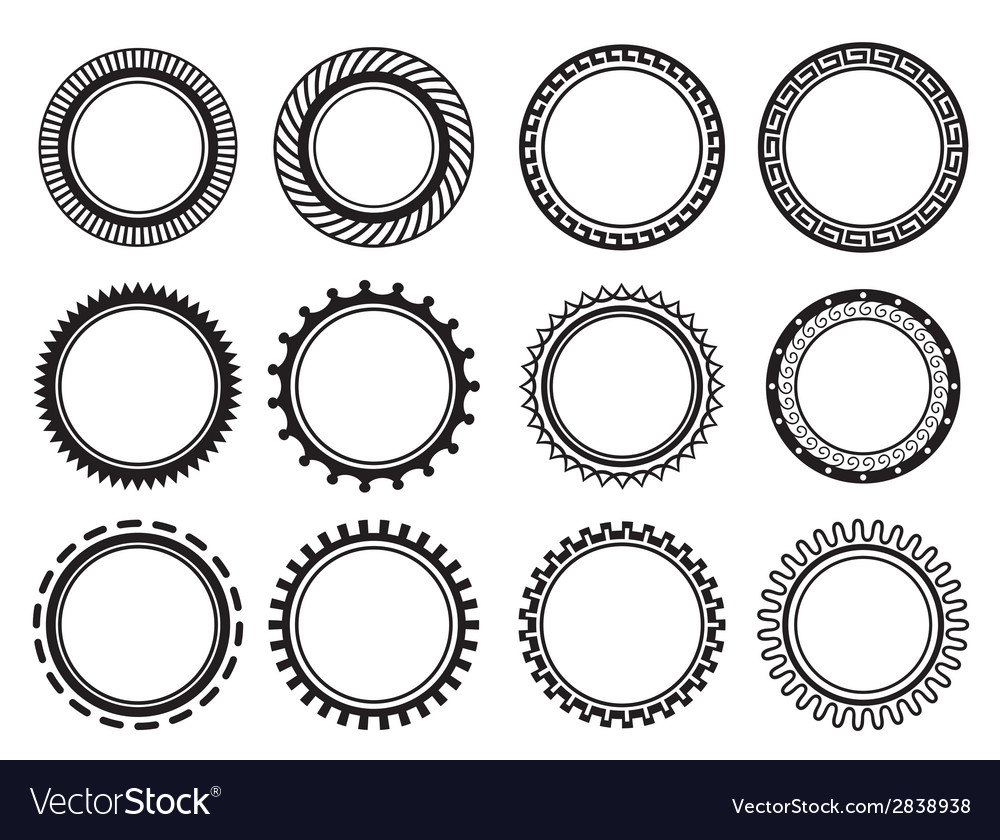 Set nice old fashioned circle vector | Price: 1 Credit (USD $1)