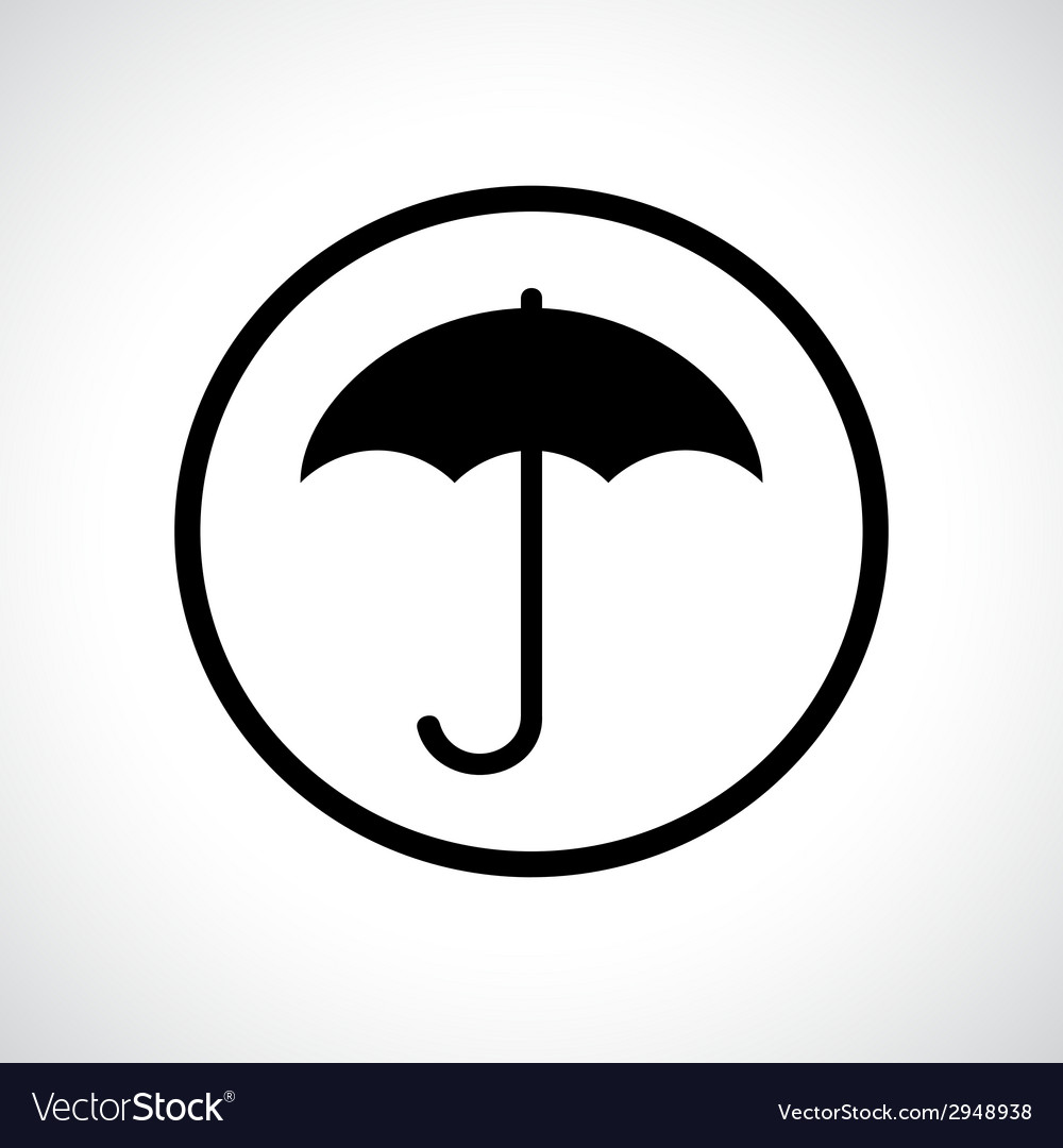 Umbrella in a circle vector | Price: 1 Credit (USD $1)