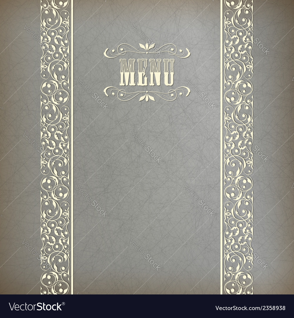 Vintage abstract retro lace banner background vector | Price: 1 Credit (USD $1)