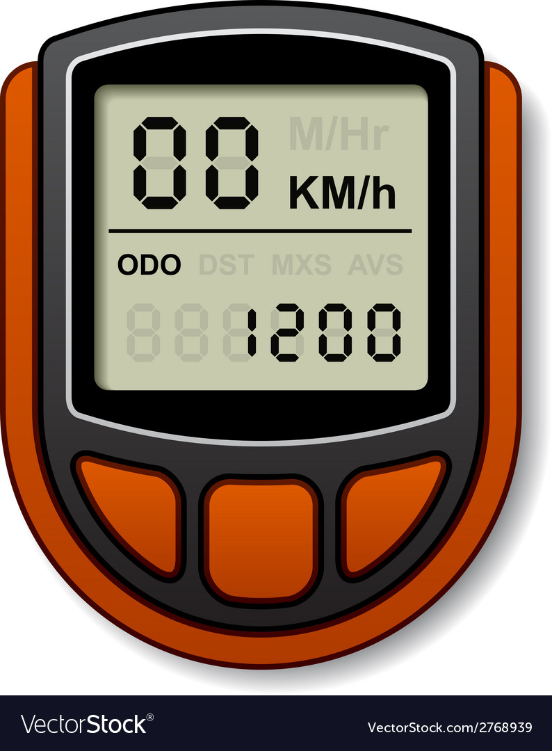 Bicycle speedometer computer vector | Price: 1 Credit (USD $1)