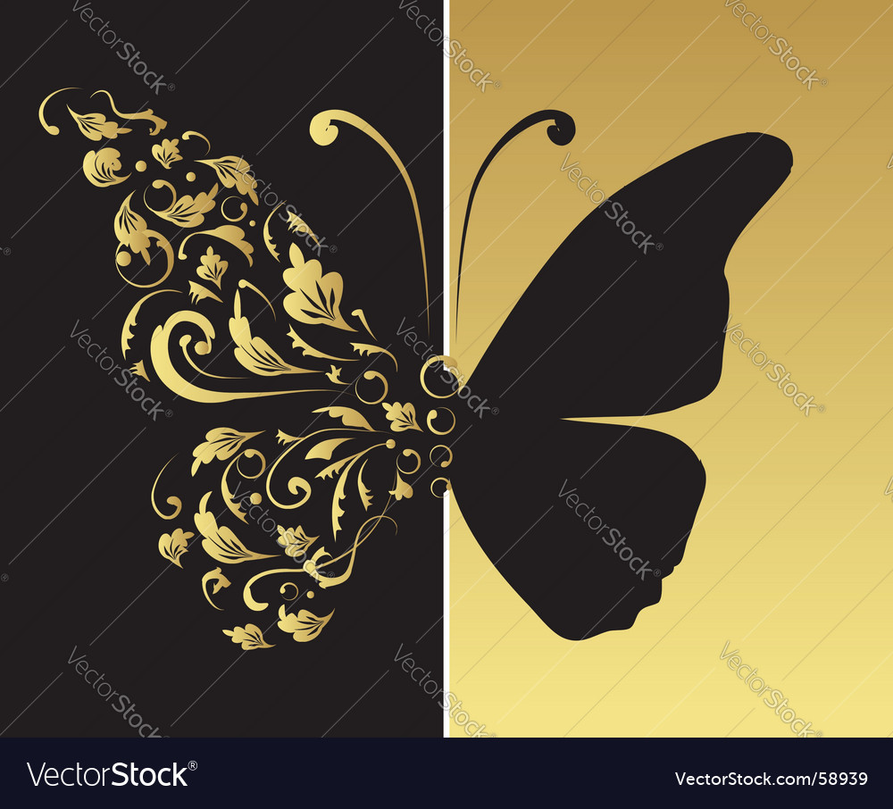 Butterfly ornate for your design vector | Price: 1 Credit (USD $1)