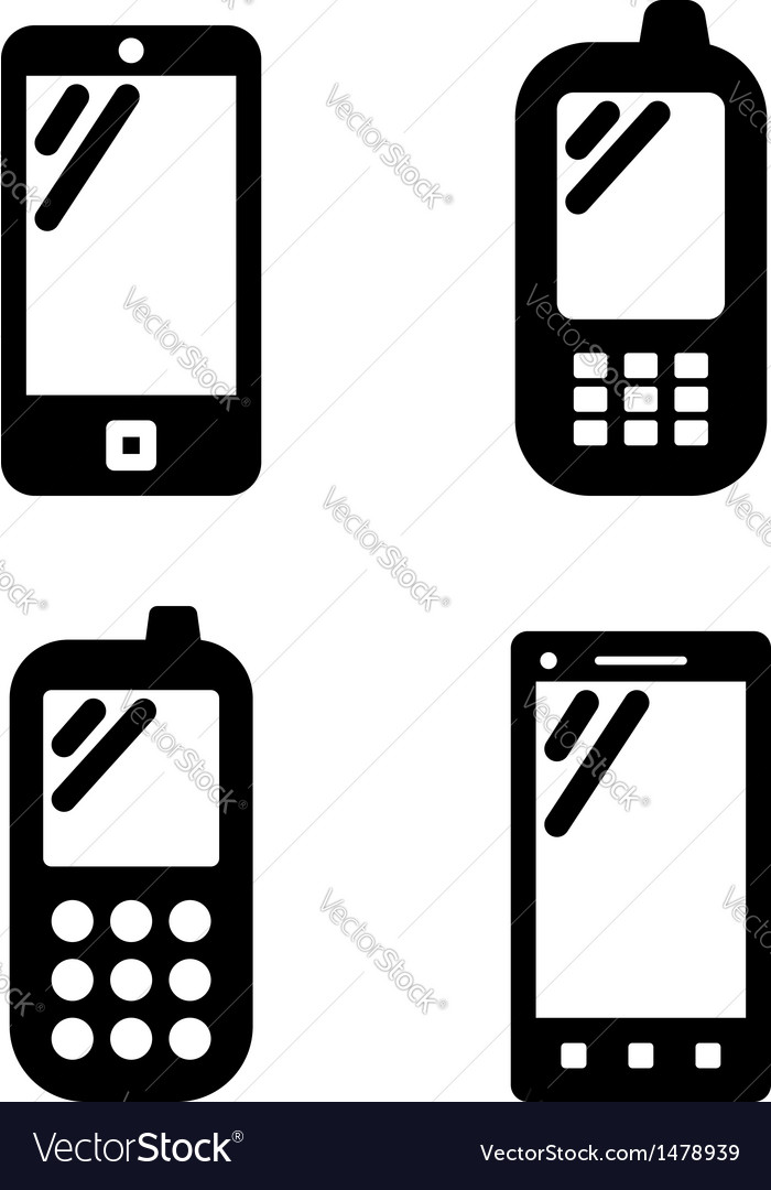 Cell phone signs vector | Price: 1 Credit (USD $1)