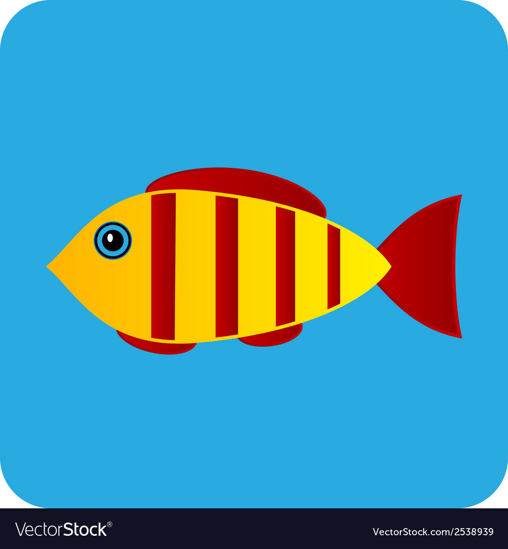 Fish button vector | Price: 1 Credit (USD $1)