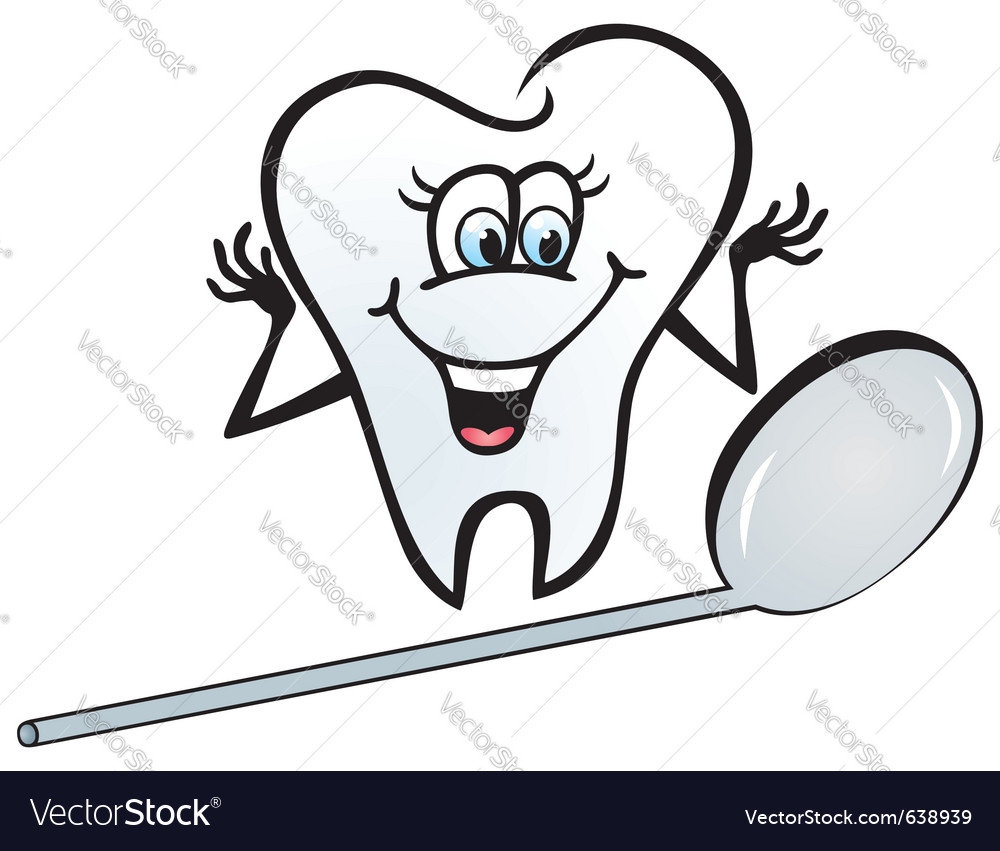 Happy tooth vector