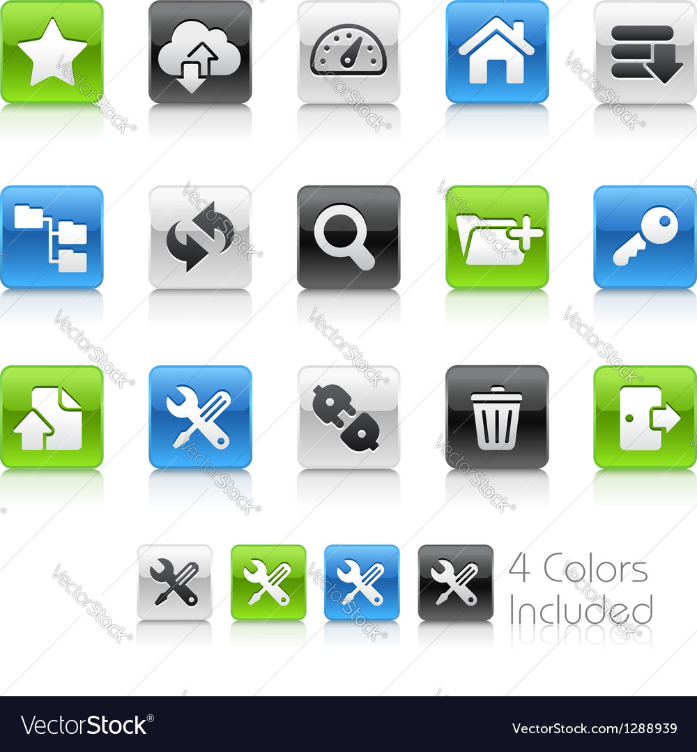 Hosting icons clean series vector | Price: 1 Credit (USD $1)